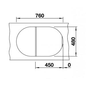Размеры 78x50 см, размеры чаши 39x39 см, глубина мойки 18 см