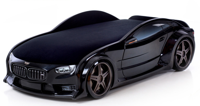 Кровать-машина объемная (3d) NEO БМВ черный