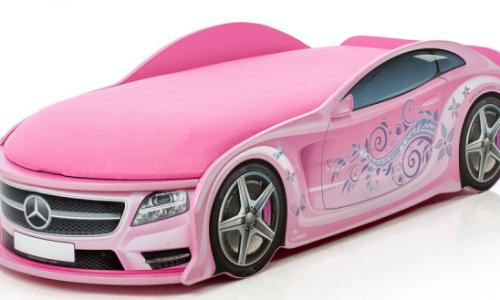 кровать машина розовый мерседес